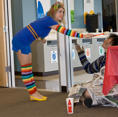 """Bless you my child"" (bry804) Tags: halloween cup digital newspaper office costume rainbow october bright wand contest coke bum blessing company impact soda leggings acxiom legging rainbowbright sodacup starwand adhalloween"