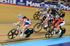 Lizzie Armistead (johnthescone) Tags: look bicycle sport race manchester cycling focus track cyclist lizzie pro 100 worldcup adidas velo velodrome mavic uci dolan armistead trackcycling manchestervelodrome ucitrackworldcup britishcycling pointsrace lizziearmistead 100me