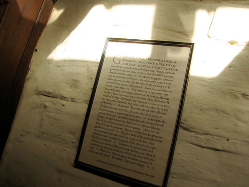 sunlight on the Desiderata
