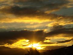 Glorious (Stellina.m  (...illness)) Tags: light sunset sky clouds skyscape gold beam rays aplusphoto