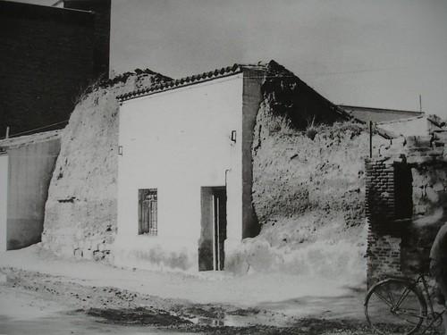Restos de la muralla en la Puerta del Vado