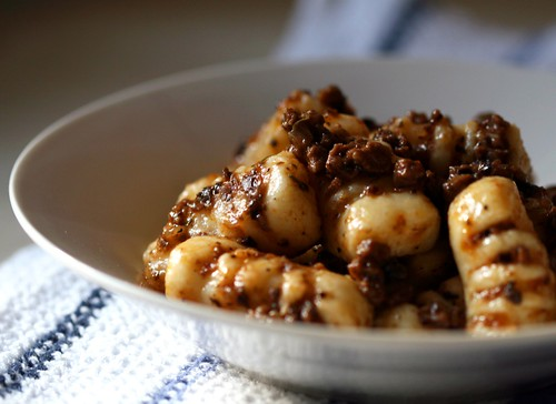 Potato gnocchi with lamb & olive ragu