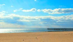 Rays of Light... (jami_lee) Tags: ocean sun beach clouds coneyisland pier sand rays sunrays abigfave flickrdiamond