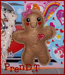 Galletita de fieltro Kawaii (PrenD-T) Tags: cute navidad cookie sweet handmade felt kawaii feltro galleta hechoamano fieltro prendt
