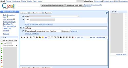 Mon Gmail est passé en mode bleu !