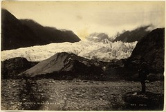 Franz Josef Glacier, ca 1879-1892 (National Library NZ on The Commons) Tags: newzealand sepia glacier franzjosefglacier albumen nationallibrarynz jamesring commons:event=commonground2009
