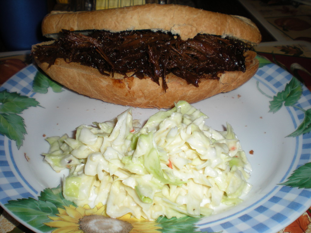 Night 2-BBQ Beef Sandwiches and Cole slaw