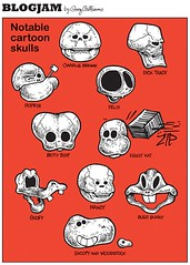 Notable cartoon skulls (WilliamsProjects) Tags: goofy illustration comic nancy snoopy charliebrown woodstock bettyboop popeye bugsbunny krazykat dicktracy felixthecat gregwilliams blogjam notablecartoonskulls