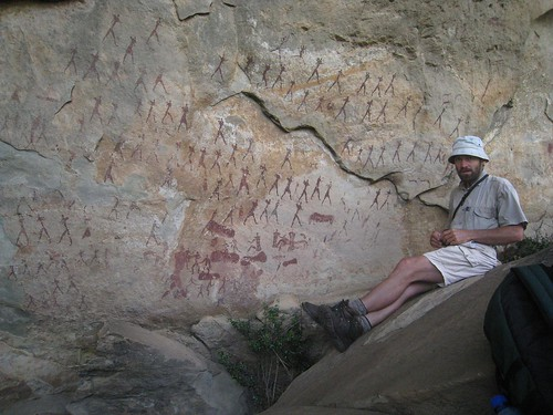 Our guide discusses the rock art