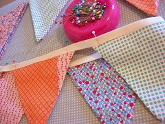 How to make a bunting - tutorial (Joyful Abode) Tags: decorations holiday project handmade sewing tape homemade fabric cotton banners tutorial bunting pennants twill