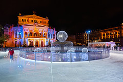 Opera On Ice (Philipp Klinger Photography) Tags: light motion blur reflection tree ice water night germany square deutschland nikon opera europa europe long exposure hessen shot crystal frankfurt tripod skating skate philipp oper hesse alte klinger nodri opernplatz tamron1735mm singleshot tamronspaf1735mmf284dildasphericalif d700