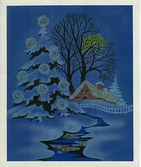 Vintage Christmas Card   by Pine and Wine