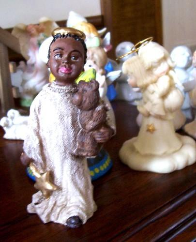 African American boy angel