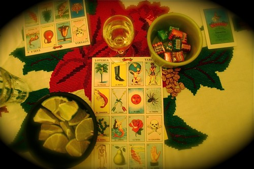 Loteria, chicle, tequila