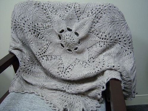 Hemlock Ring Blanket - completed