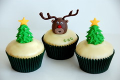 Rudolph Cupcake (TheLittleCupcakery) Tags: christmas xmas red tree cake reindeer nose cupcakes snowman little rudolph tlc cupcakery xirj klairescupcakes