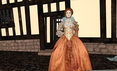 Queen Elizabeth Rainbow Portrait Attire @ Mary Arden House - Gloriana Sixpence