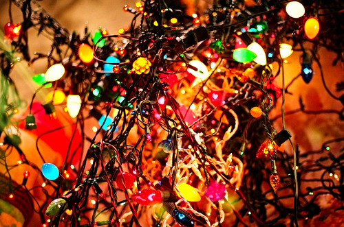 tangled Christmas lights - a photo on Flickriver
