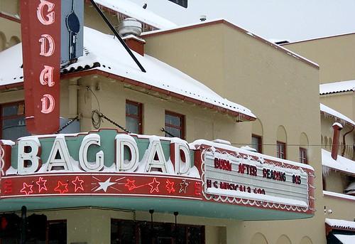 Bagdad Theater sign, Portland, OR, Dec. 22, 2008