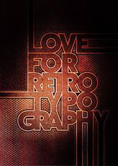 Typowall  Love For Retro Typography (Vector Hugo) Tags: old wall illustration vintage dark poster logo typography design rust mood strokes grunge letters retro communication characters visual glyph capitals ligatures visualcommunication hapsis pointofdesign themischapsis theta75 loveforretrotypography vectorhugo