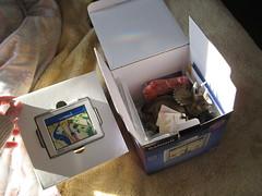 Opening Garmin box