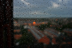 In love with rainy days (D!ana) Tags: nottingham rain landscape dof unitedkingdom citylights myroom rainydays mywindow gettingdark