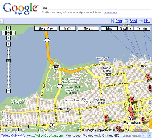 Google Maps - with text ad 2