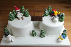 Snowman Christmas Cake (insite) Tags: christmas food snow tree cake fruit baking snowman cream christmastree sugar foodporn butter icing vanilla imadethis fruitcake christmascake fondant buttercream edibleart raspberryjam sugarpaste rolledfondant noveltycake flowerpaste aine2 mexicanpaste lorrainemckay bespokecakes