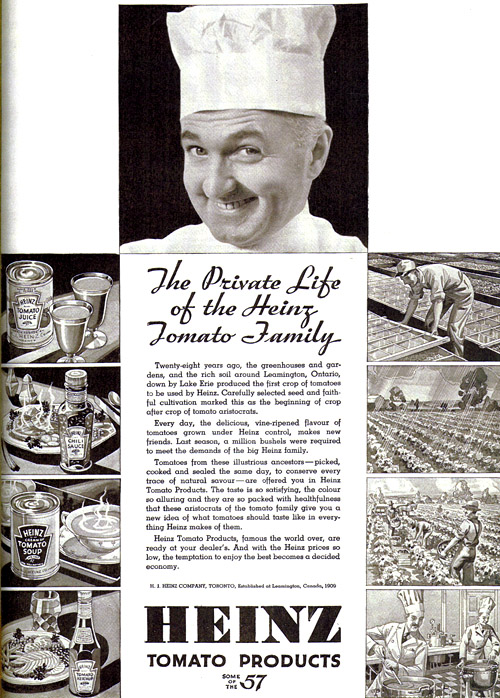 Vintage Ad #734: The Private Life of the Heinz Tomato Family
