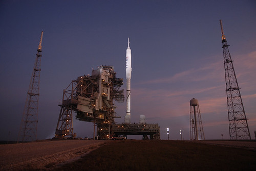 Ares I-X: Sunrise on the Launch Pad (NASA, 10/27/09)