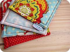 Coasters Aqua/Red ** j foi** (Done by me!!!) Tags: handmade craft bolinhas dots supla donebyme costers feitoamo portacopos