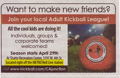 Metro Mentions: take the Red Line to kickball!