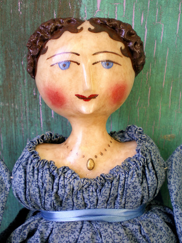Blue-eyed Regency Doll