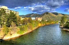Missoula (SheldonPhotography) Tags: pictures trees summer mountains creek canon river spring montana downtown day mt photos missoula hdr highdynamicrange kootenai kootenaicreek rebelxti mygearandmepremium