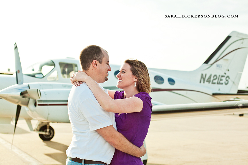 Kansas City downtown airport engagement photography
