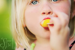 Popsicles and Freckles (Suzanne Pyle Photography) Tags: summer girl june kids spring child blueeyes freckles popsicle bokehwedensday suzannepyle suzannepylephotography