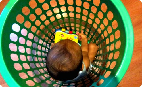 Laundry basket baby