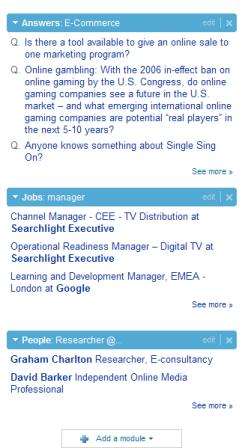 LinkedIn widgets