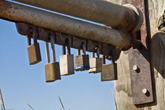 Multiple Padlock Farm Gate Mechanism - multi-lock-gate-at-islay-creek-road-montana-de-oro