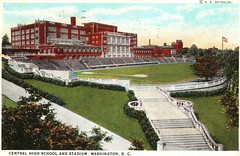 Central High School Postcard (Mr.TinDC) Tags: 1920s architecture buildings washingtondc dc tracks postcards scanned dcist bleachers schools columbiaheights centralhighschool highschools cardozohighschool athleticfields cardozohigh