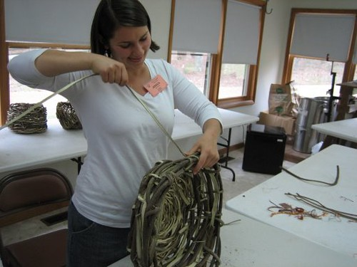 in basketry class
