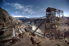 Hoover Dam (wili_hybrid) Tags: city trip travel vacation arizona urban usa holiday nature america landscape geotagged outside outdoors photo yahoo spring high nikon flickr exterior unitedstates dynamic lasvegas photos outdoor nevada picture pic journey american hooverdam april wikipedia imaging d200 mapping 2008 range geotag tone hdr nab hdri photomatix nikond200 tonemapped tonemapping highdynamicrangeimaging year2008