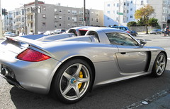 Porsche Carrera GT / San Francisco () Tags: sf auto sanfrancisco street city party sexy car silver calle traffic stuttgart candid thecity fast corso leipzig exotic german porsche paparazzi soire gt posh expensive carrera carreragt russianhill sfist  saofrancisco porschecarrera schn intraffic motorvehicle porschecarreragt grandtourer