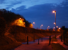 Marston Ferry Road (Margaret Stranks) Tags: street night lights oxford 2008 maymorning