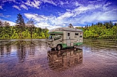 Camping Car (/\ltus) Tags: parkinglot hokkaido pentax freehand rv hdr hokkaidolife sigma1020mm asahidake asahikawa campingcar 5xp 200806 japanhdr k20d zil520