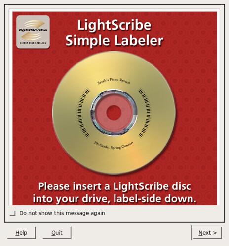 Lightscribe simplelabeler