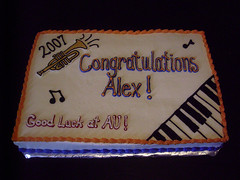 Music Themed Graduation Cake