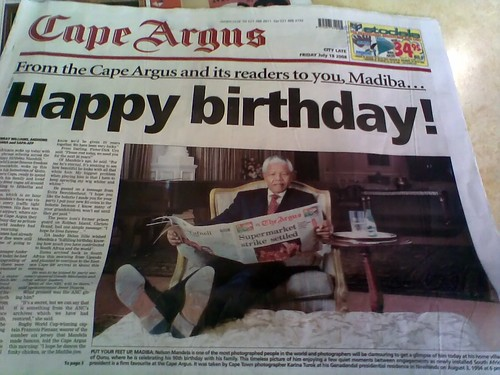 Happy birthday, Madiba by warrenski, on Flickr