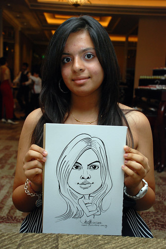 caricature live sketching for wedding dinner 120708  - 42