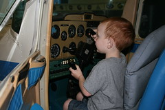 Kade flying a cessna
